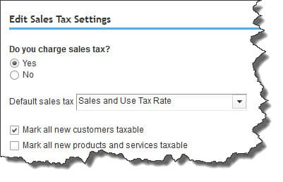 Figure 2: One of the things we'll do as we help you get started with sales taxes is to make sure that your site settings are correct.