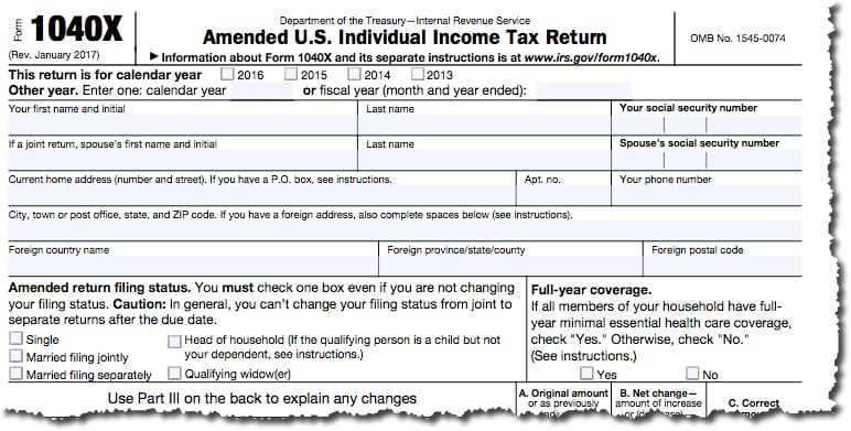How Do You File An Amended Tax Return Account Abilities Llc