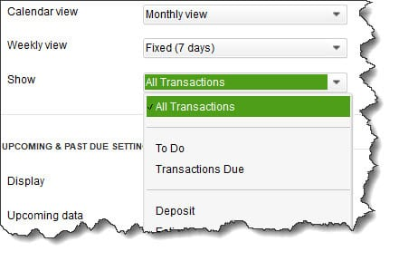 quickbooks all transactions